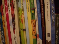 Bookshelf of Children's Books in Hebrew