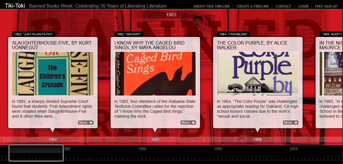 Image of Liberating Literature Interactive Timeline