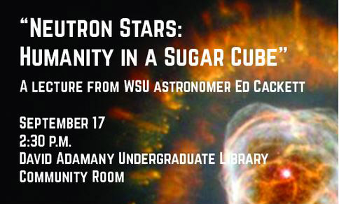 Neutron Stars Humanity in a Sugar Cube announcement