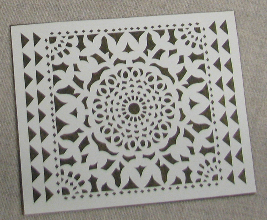 Paper Cut with Symmetrical Lace Pattern