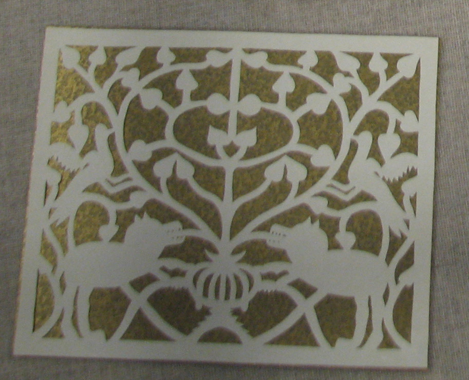 Paper Cut with Traditional Flora and Fauna Motifs