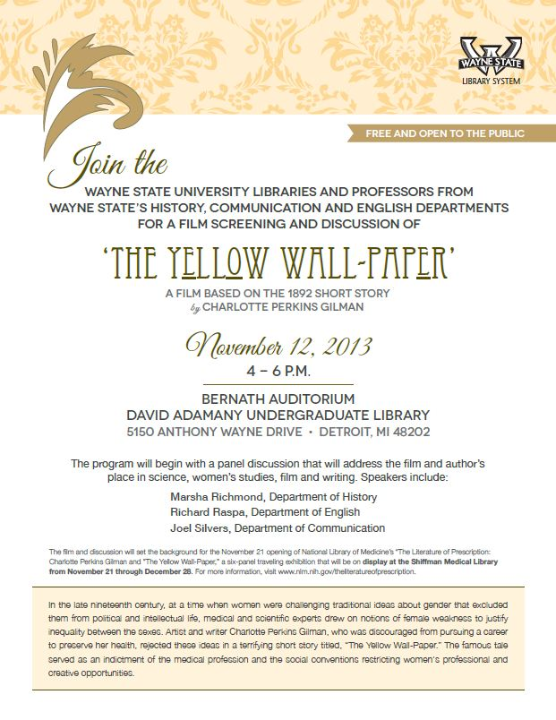Yellow Wallpaper Preliminary Event Flyer