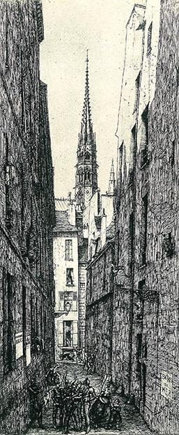 Rue des Chantres Charles Meryon