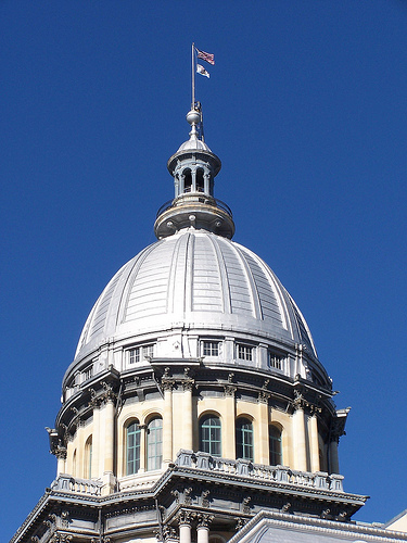 Illinois State Capitol Dome exterior