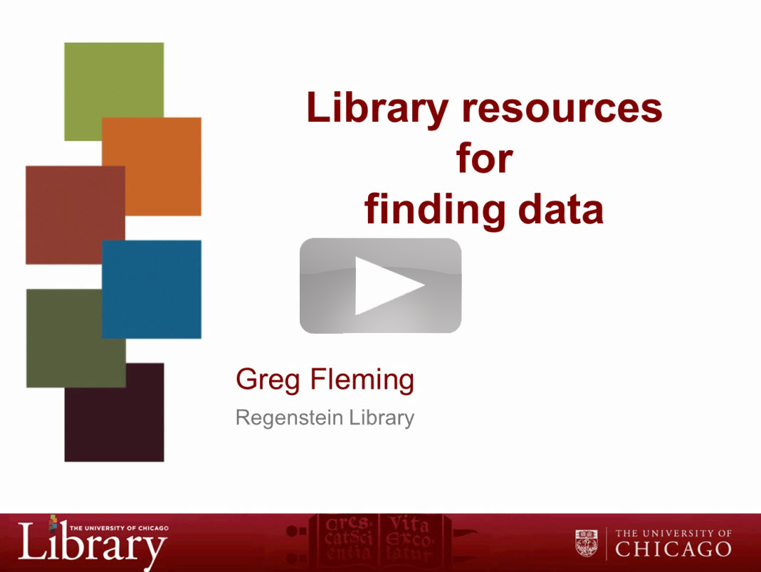 Webinar Recording - Finding Data