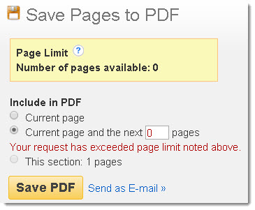 EBSCO Page Limit