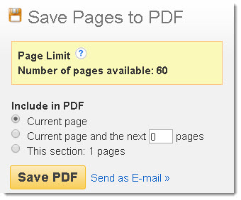EBSCO Save Pages to PDF