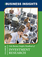 Gale Business Insights Handbook of Investment Research, 2013