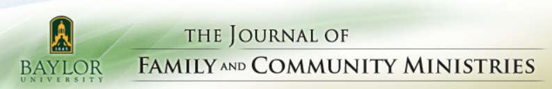Journal of Family and Community Ministries - Baylor