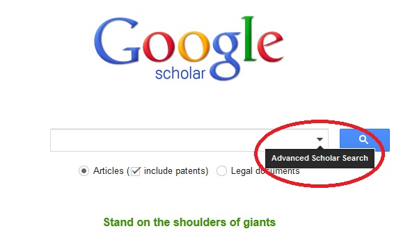 Advanced Scholar Search