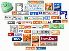compilation image of various rss readers