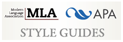 Image says MLA APA Style Guides