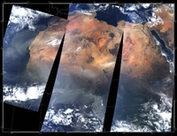 NASA image - dust storm over Africa