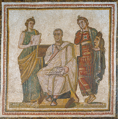 Virgil and the Muses / Bardo Museum, Tunis