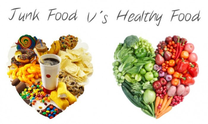 junk food vs. healthy food