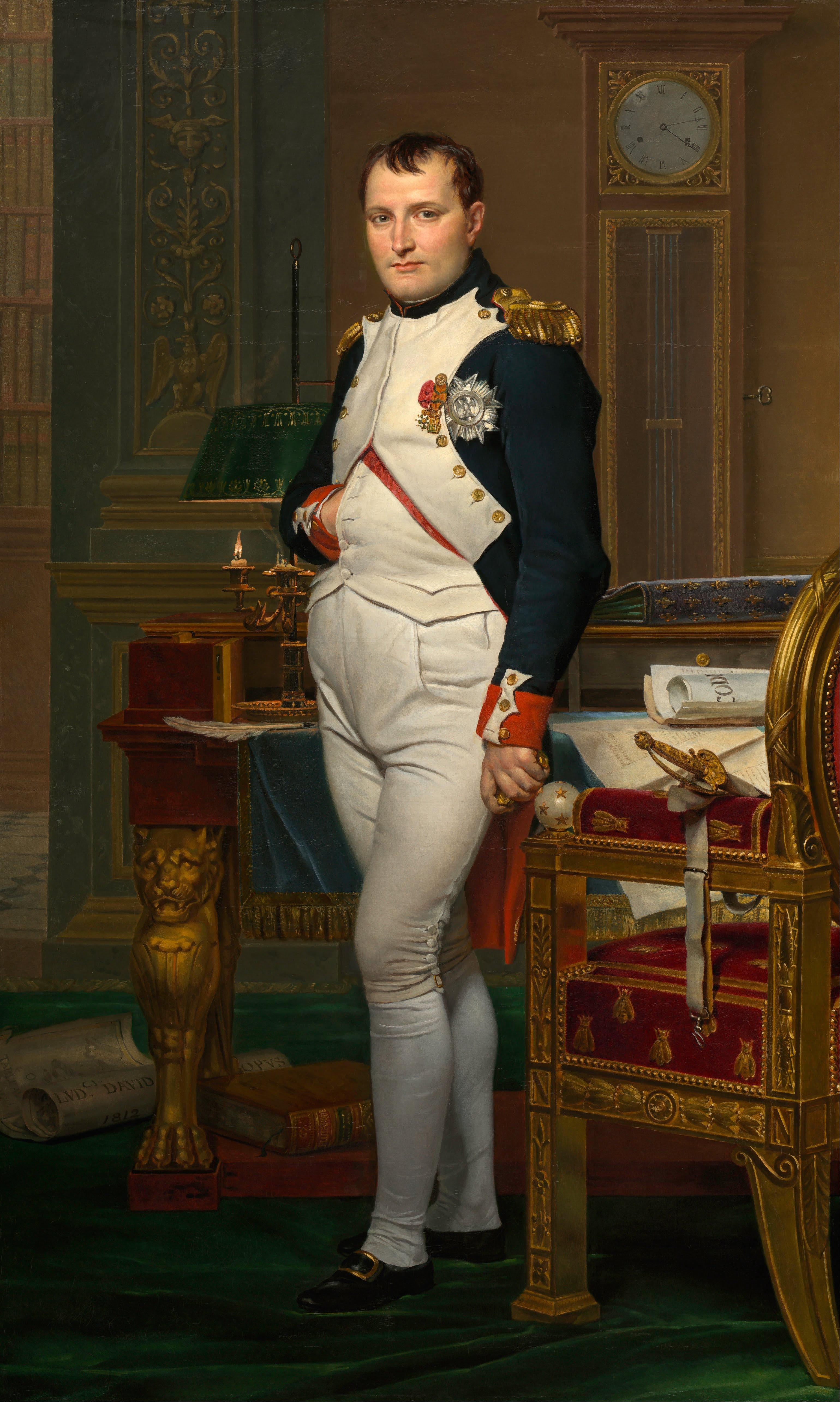 Napoleon Bonaparte portrait by Jacques Louis David