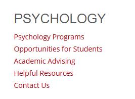 Saint Xavier University Department of Psychology