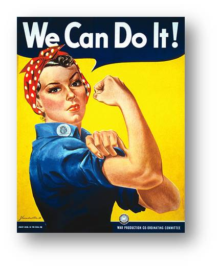 We Can Do It! 1942 poster by J. Howard Miller National Museum of American History, Smithsonian Institution