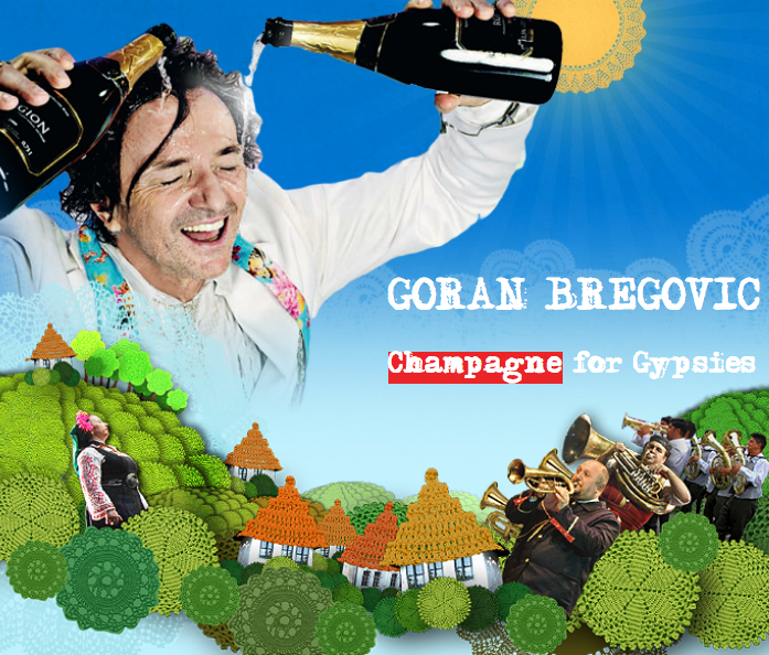 Poster for Coran Bregovic, Champagne for Gypsies