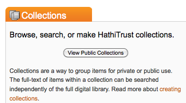 Hathi Trust browsing collections