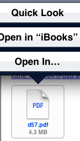 open pdf from email on ipad