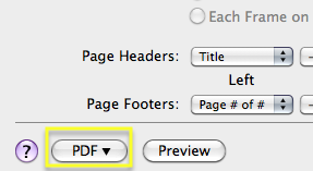 Print to PDF in ebrary