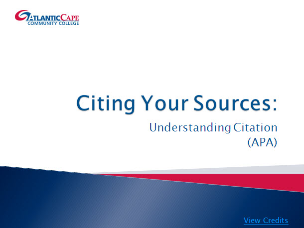 Understanding Citations (APA)