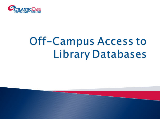 Off Campus Database Access