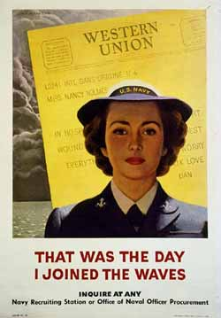 WAVE WWII Poster