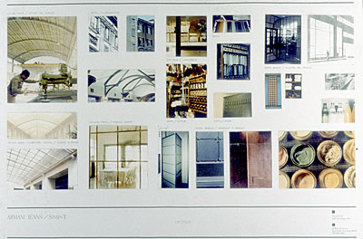 Concept Board for Armani Jeans by Naomi Leff