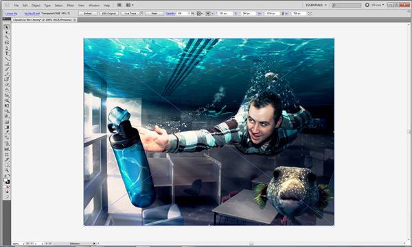 Place Photoshop file