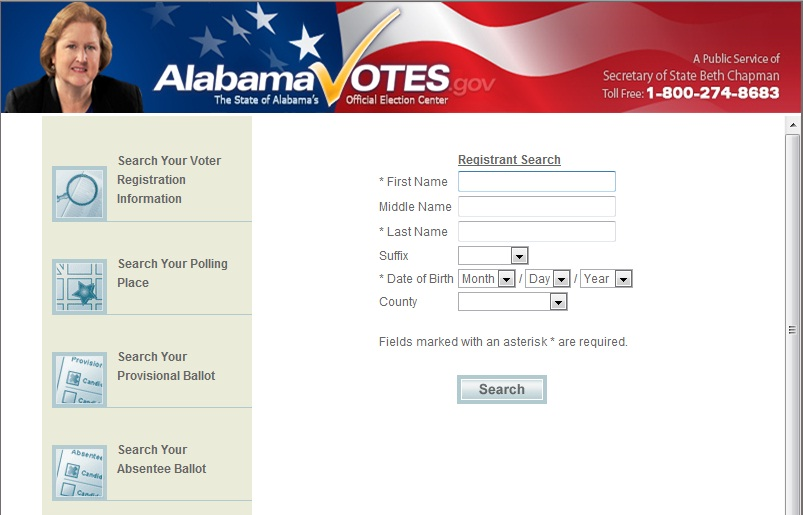 Search for your voter registration information.