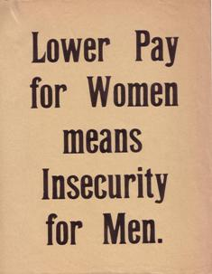 Image of National Union of Women Teachers equal pay campaign leaflet