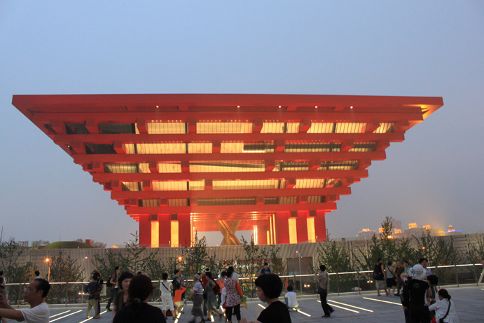 The main structure of the China Pavilion at the Expo 2010