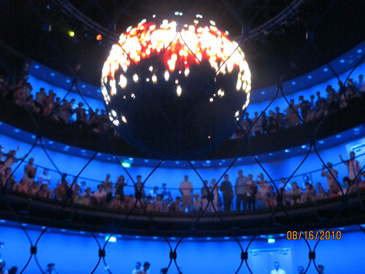 The Energy Source sphere in the German Pavilion.