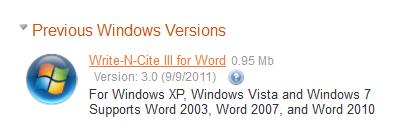 WNC4.2 Previous Versions