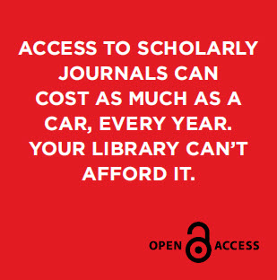 Access to scholarly journals can cost as much as a car, every year. Your library can't afford it.