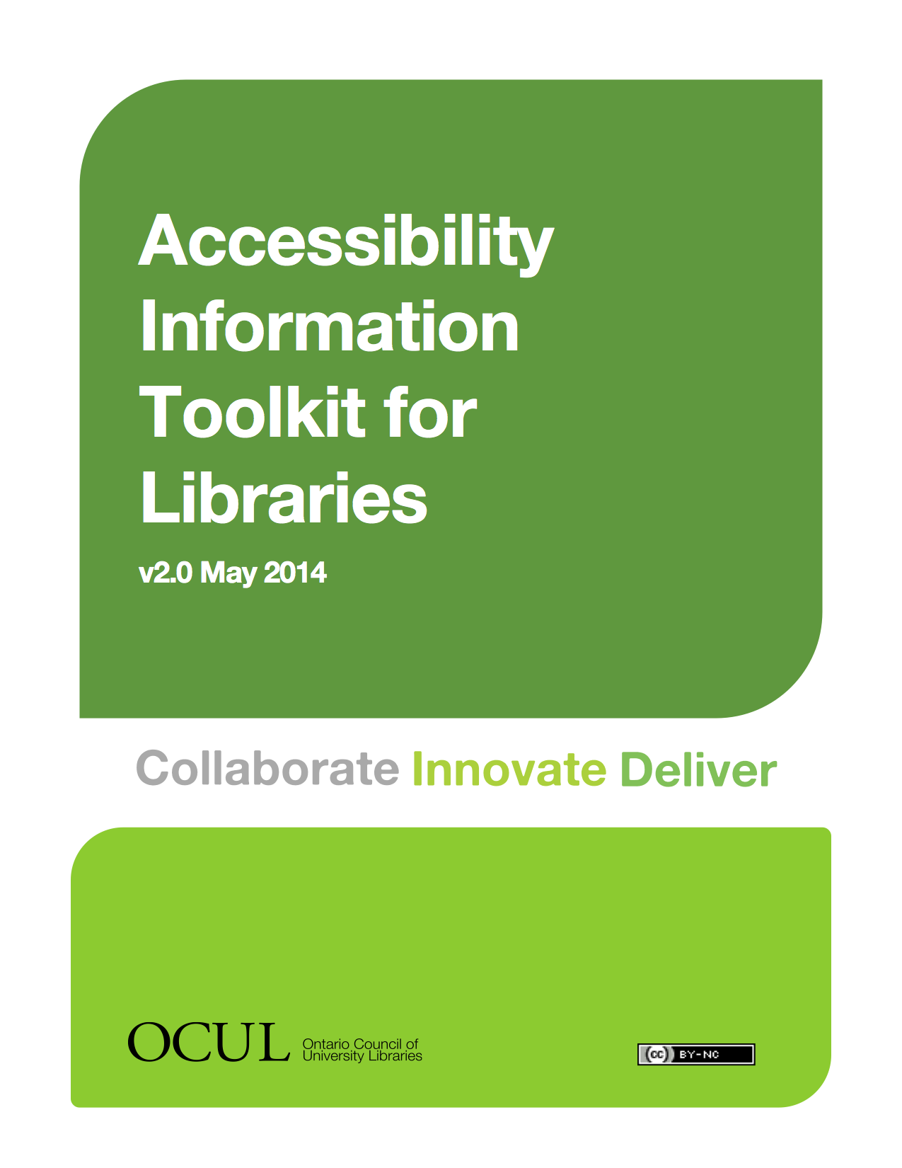 Thumbnail of Accessibility Toolkit cover page and table of contents