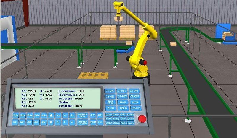 Rendering of robotics work envelope