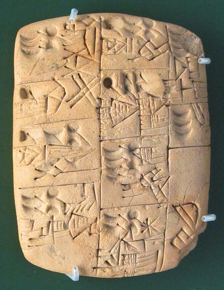 Image: Early writing tablet
