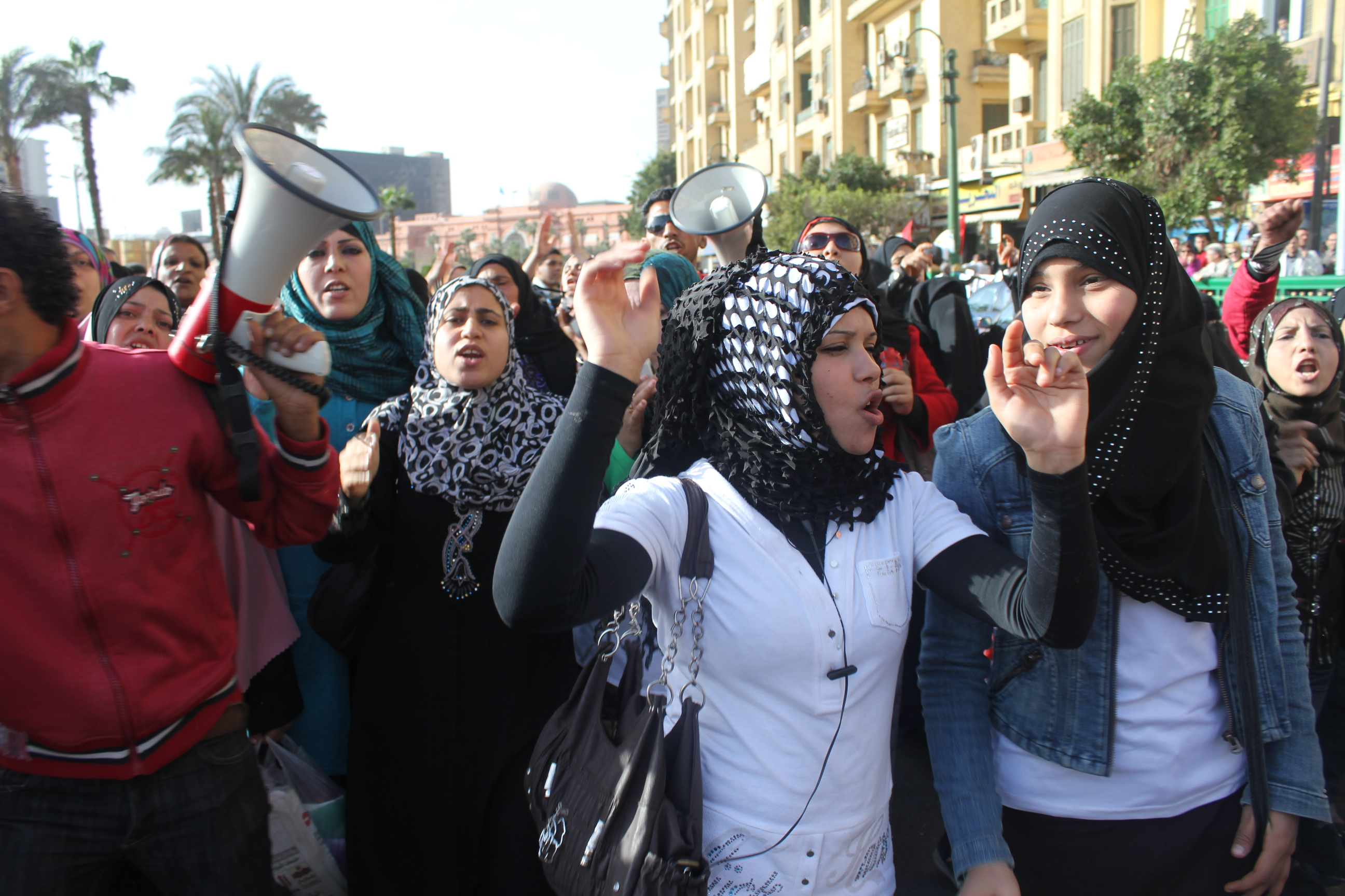 women's right protest in Egypt