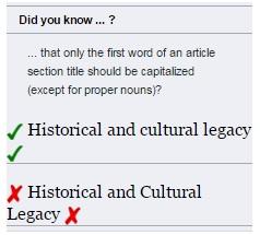 screenshot showing how capitalization displays