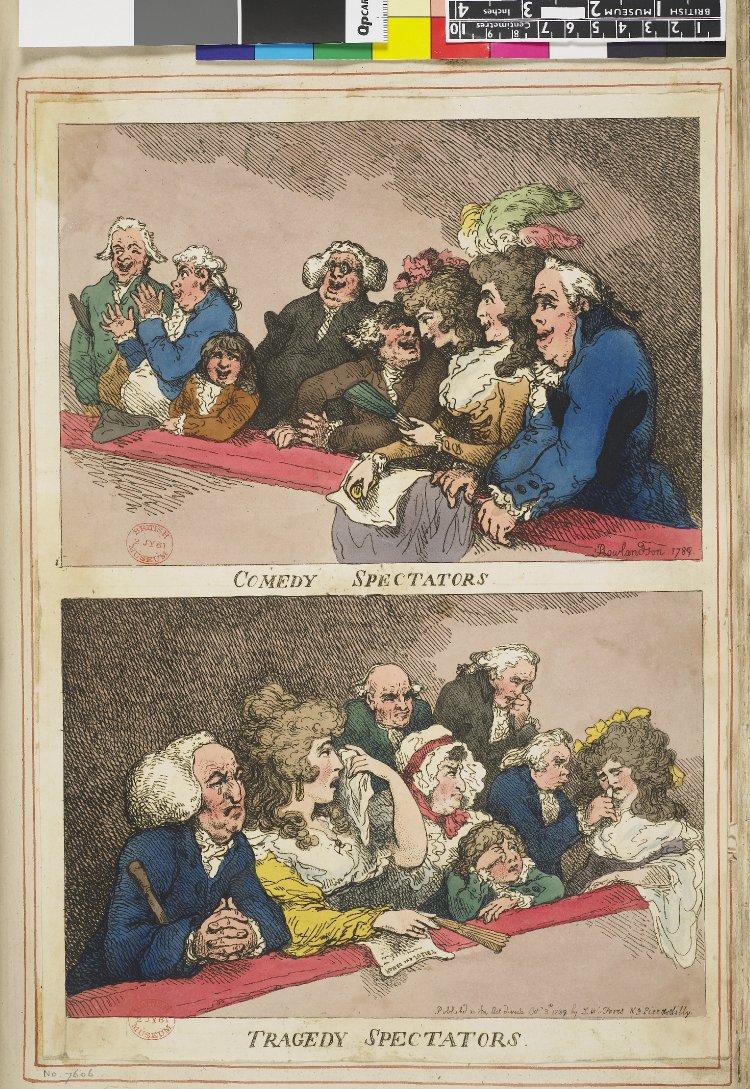 Comedy & Tragedy Spectators (Satirical Print)
