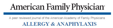 American Family Physician: Allergy & Anaphylaxis