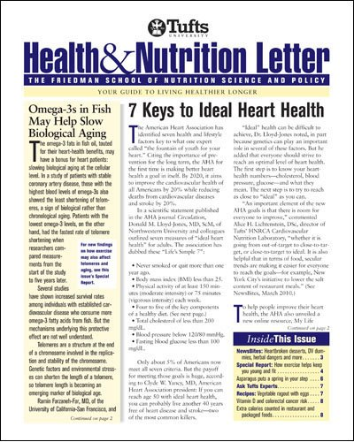 Health and Nutrition Letter: Tufts