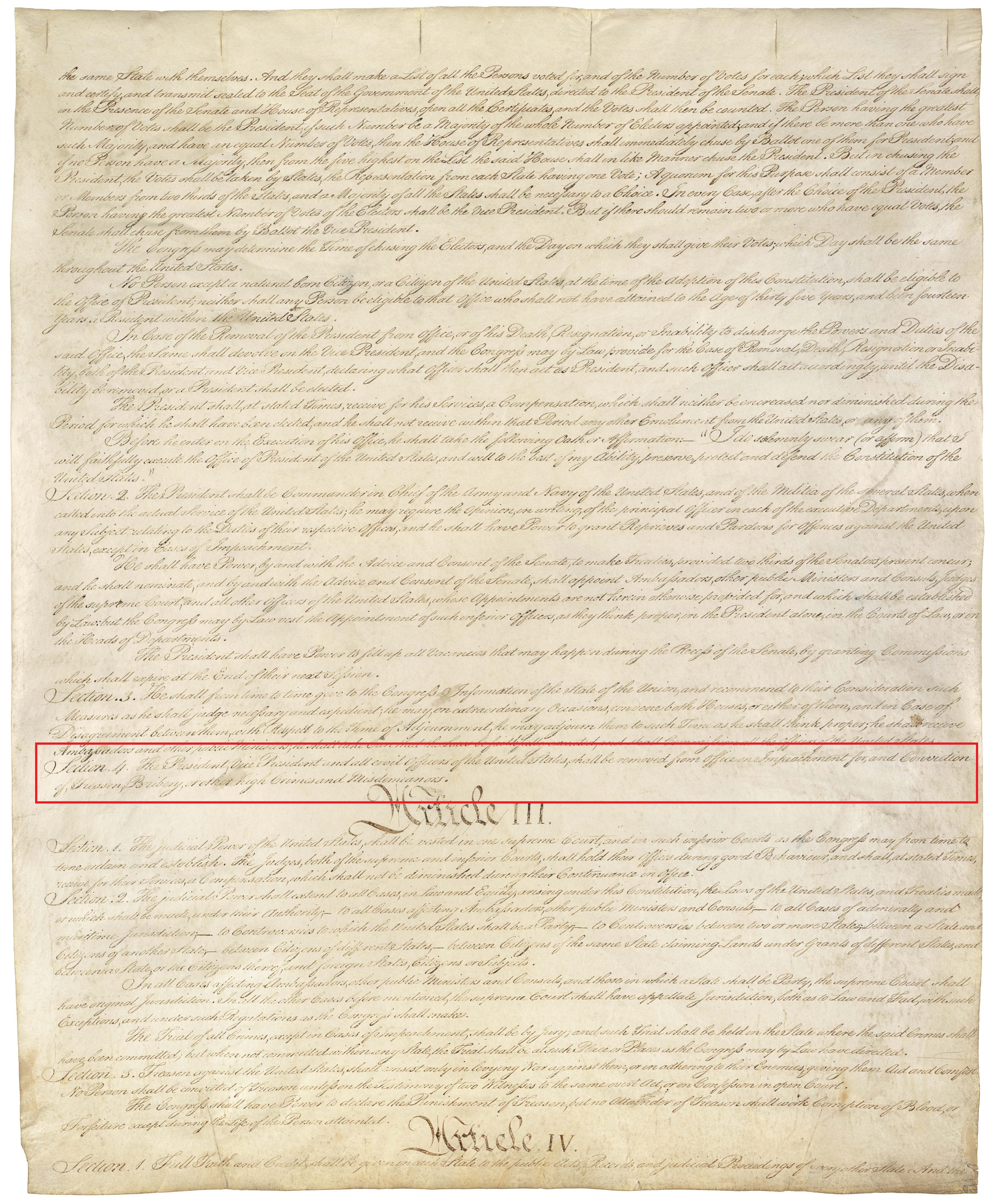 An old piece of paper with illegible cursive writing. About three quarters of the way down the page, one section is highlighted by a red box.