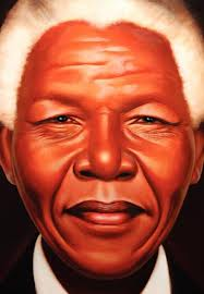 Close up of Nelson Mandela's face