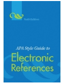 Image of APA Style Guide to Electronic References front cover