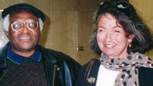 Bishop Desmond Tutu with Dorothy Woodson