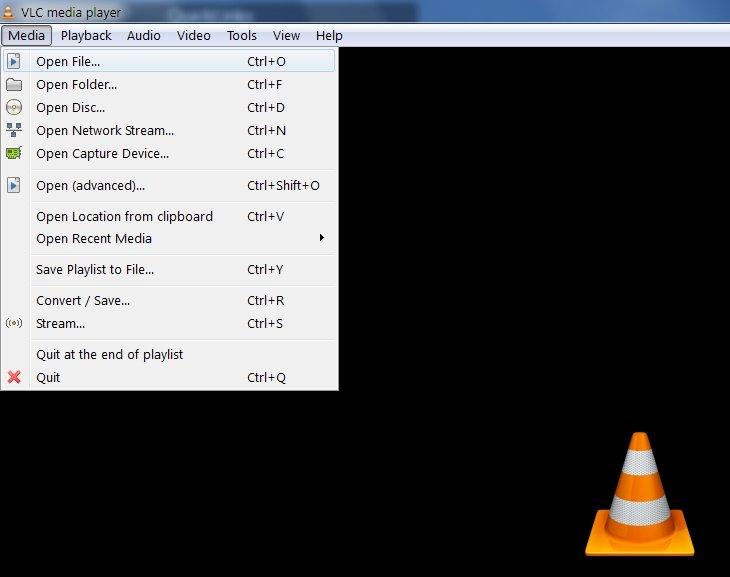 VLC Media tab